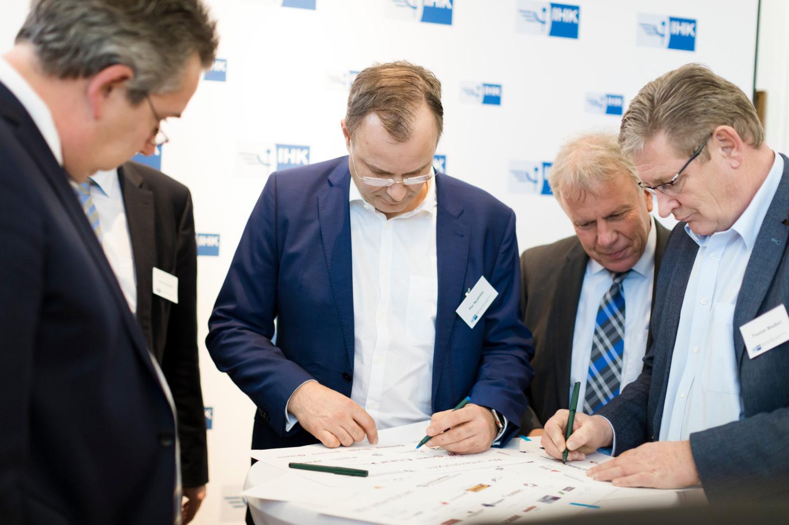 Per Nyströmund Thomas Maaßen bei der #GemeinsamMobil für Duisburg und Niederrhein - Gründungsveranstaltung am 14. Januar 2019