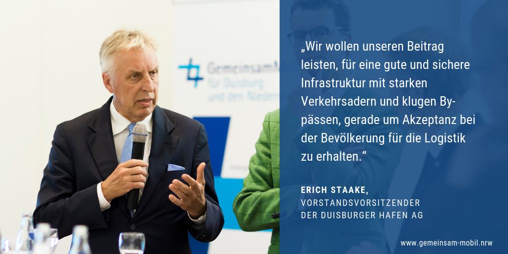 Ein Zitat zur Bündnis Gründung von Erich Staake