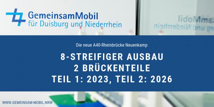 Die neue A40-Rheinbrücke Neuenkamp