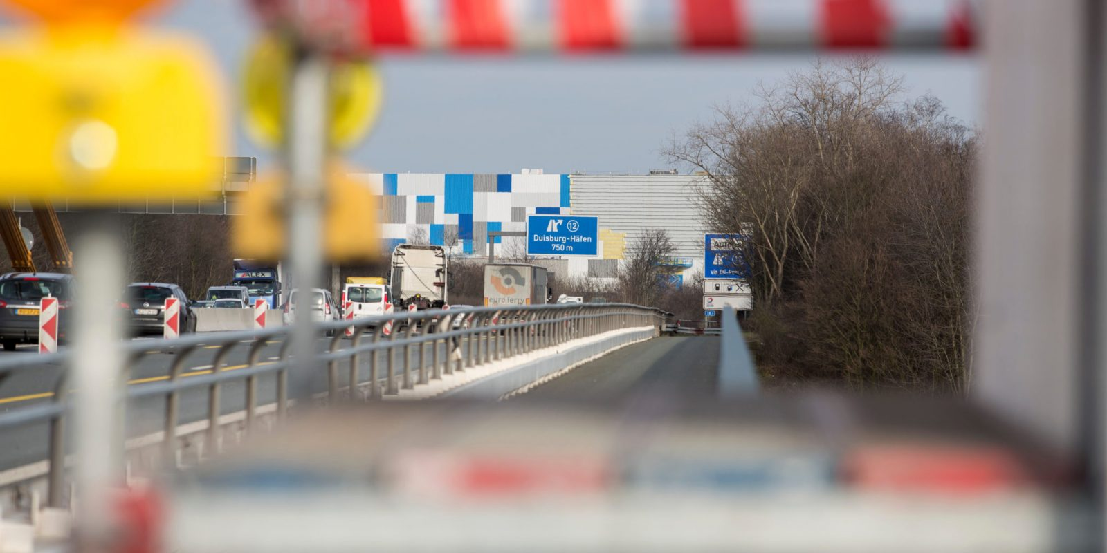 Baustelle Duisburg Häfen